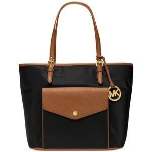 Michael Kors Nylon & Leather Shoulder Bag